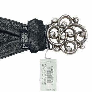 Brighton Sterling LC Wide Soft Leather Belt